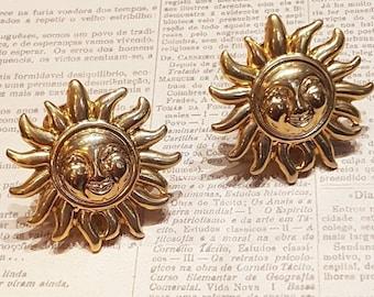 24be15eaa14 Versace Gold Sun Clip on Earrings