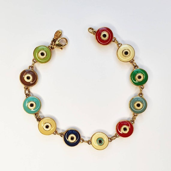 Joan Rivers Multicoloured Enamel Bracelet Gold Pla