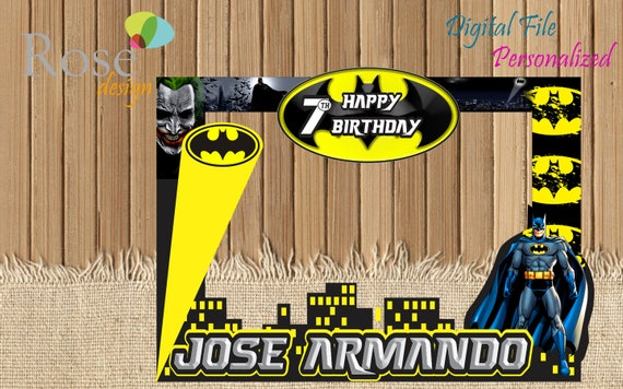 Batman marco de fotos / Batman Fiesta / Birthday Backdrops /