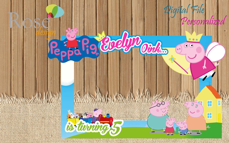 Peppa Pig Photo Booth / Peppa Birthday / Birthday Backdrops / | Etsy