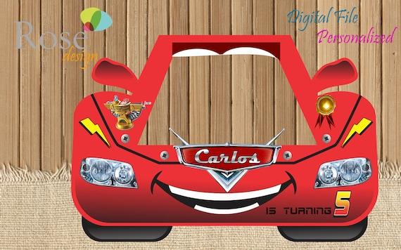 Cars marco foto / Carro fiesta / Birthday Backdrops / Photo