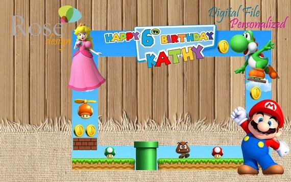 Super Mario Bros Y Princesa Peach Marco Foto Mario Bros Etsy