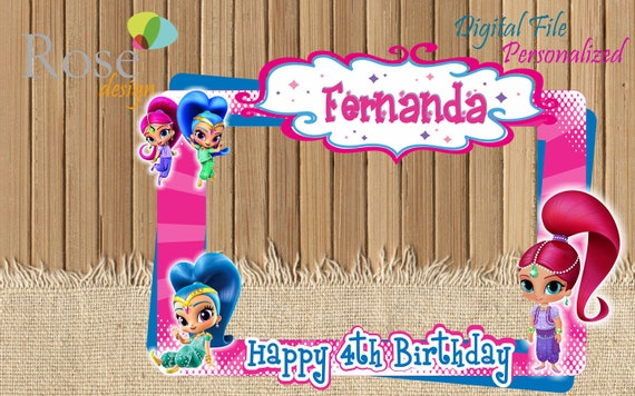 Shimmer And Shine Photo Booths Shimmer And Shine Birthday Etsy