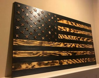 American Flag, Wood Flag, US Flag,