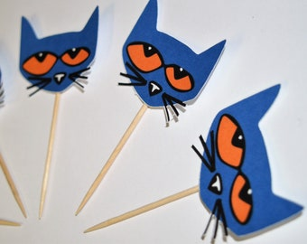 Pete the Cat Cupcake Toppers (set of 12)