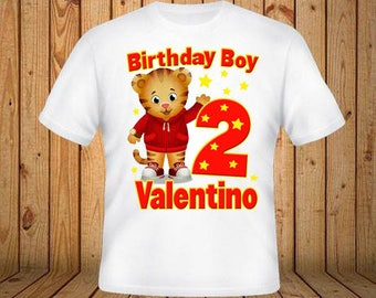 Daniel Tiger Birthday Shirt The Shirts Boy Personalized Christmas Gift Store