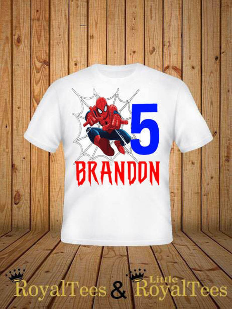 Spiderman Birthday Shirt image 0