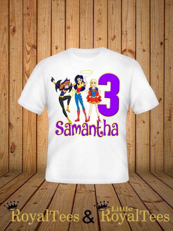 530fcebb3 DC Superhero Girls Birthday Shirt | Etsy