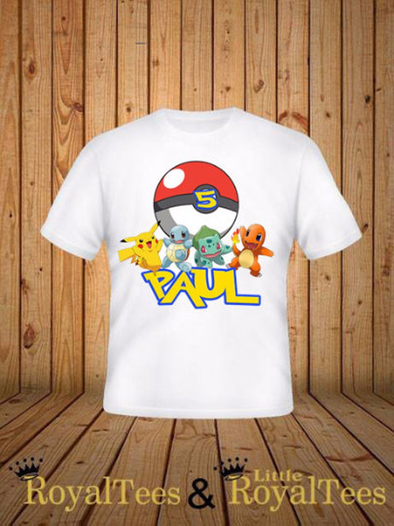 Pokemon Birthday Shirt image 0