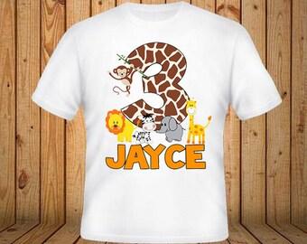Animal Safari Birthday Shirt
