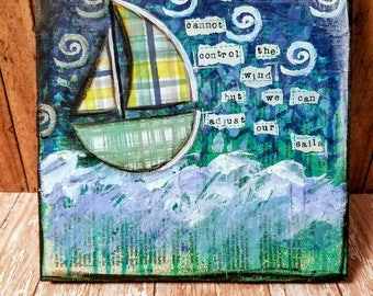 Boat Mixed Media Art Print