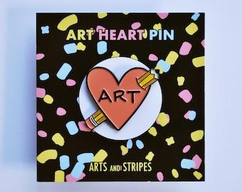 Art Heart - Pin