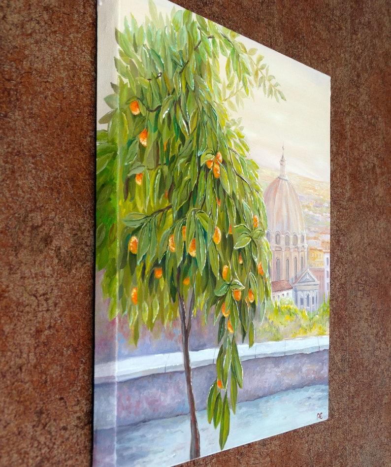 Giardino Degli Aranci Orange Garden Rome Italy Painting Original Artwork Rome Wall Art