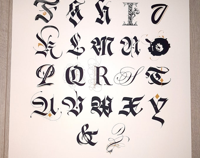 Calligraphy Masters Alphabet Poster Limited Edition