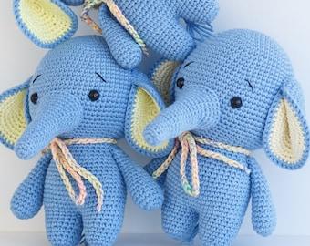 ALBERTO the Elephant Toy - Crochet Elephant - Stuffed Elephant - Soft Elephant Toy - Plush Elephant - Baby Toy - Baby Soft Toys
