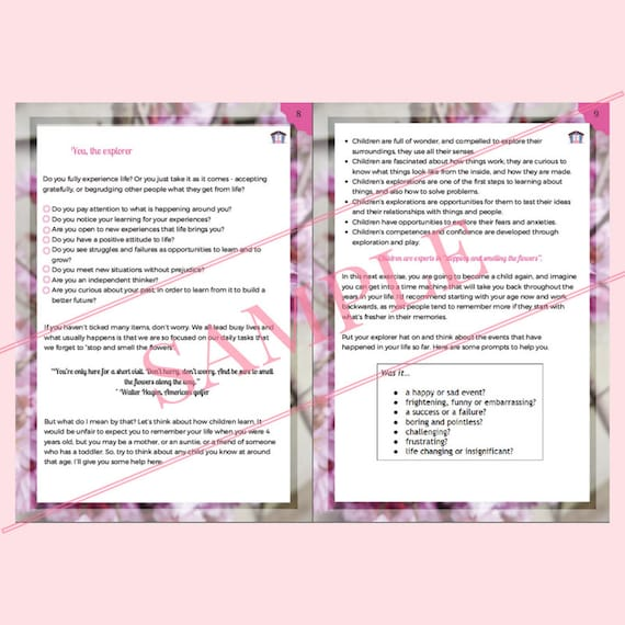31-page Motivational E-book and journal - Creative writing for wellbeing  e-book and journal