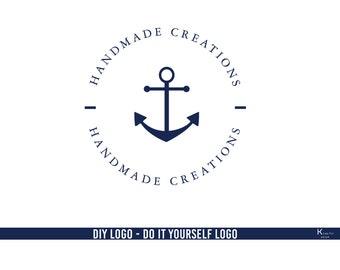 Anchor Logo. Nautical Logo. Marine Logo. Sea Apparel Logo. Handmade Logo. Shop Logo. Business Logo. Etsy Shop Logo. Boutique Logo. Photo