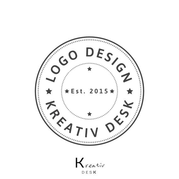 Badge Logo Round Logo Circle Logo Diy Logo Do It Yourself Etsy