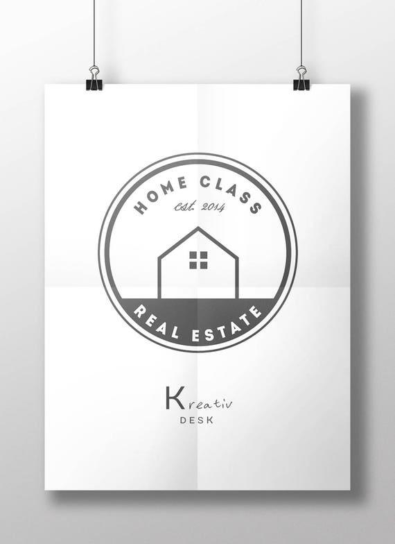 Home Logo Realtor Logo Design Real Estate Logo Business Etsy