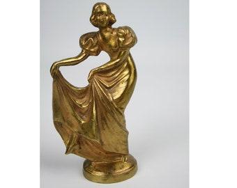 European Mid Century Solid Brass Paper Weight-Office Desk Decor-Vintage Brass Decor-Antique Paper Weight-Vintage Brass Figurine-Office Gifts