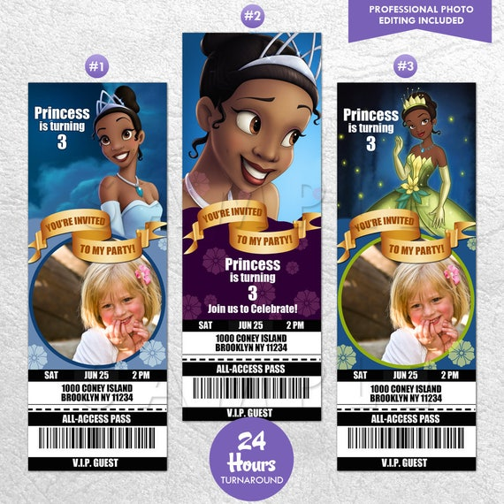 The Princess and the Frog Movie Invitations