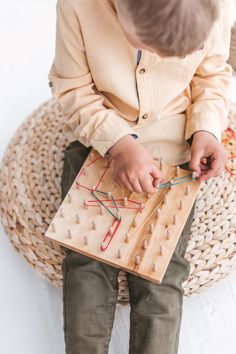 Cadeaux préscolaires pour les enfants 7x7 planche à bois image 0