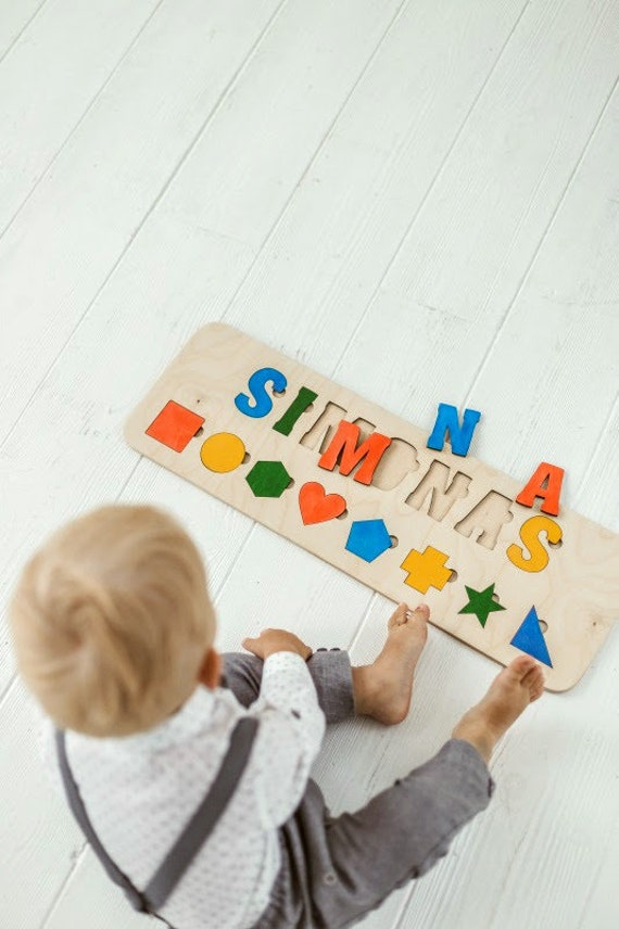 Personalized Baby Boy Gift Custom Name Puzzle