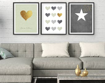 Bon Living Room Wall Art, Home Decor, Sale Giclee Set, Modern Art, Art Print  Set Of 3, Wall Art Set, Large Wall Art, Bedroom Wall Art, Minimal