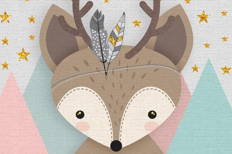 Racoon Woodlands Nursery Forest Friends Print Set Nursery Forest Decor Mountains Deer Set of 3 Forest Animal Set Neutral gender art