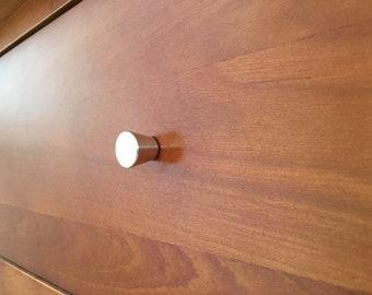 Brass Cabinet Pull -  Small Brass Cone Shaped Knob - Brass  Knob - Brass Hardware -Handmade