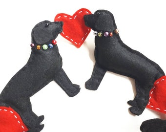 Handmade Labrador Garland/Bunting/Gift/Hanging Christmas/ Black