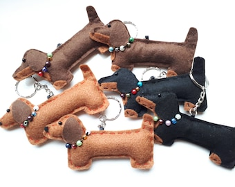 Dachshund Sausage Dog Bag Charm / Keyring / Hanging / Gift