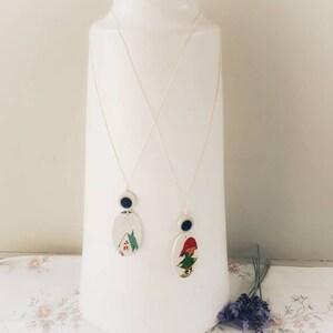 Genuine upcycled OOAK retro image pendant necklaces  Woodlands theme jewelry  Eco-friendly jewellery  Multibuy saver Julia Rose Upcycle