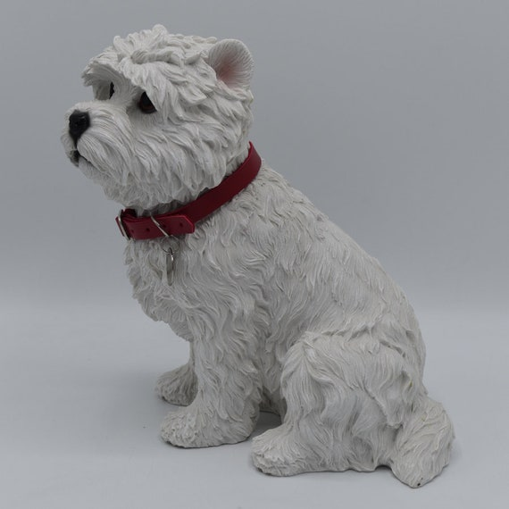 West Highland Terrier Blk-StarJacket Miniature Ceramic Hand Painted Dog Figurine