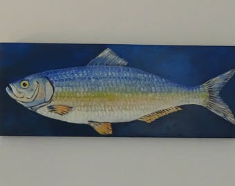 oil painting fish