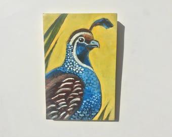 oil painting bird