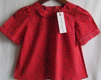 Shirt Bib--toddler, red