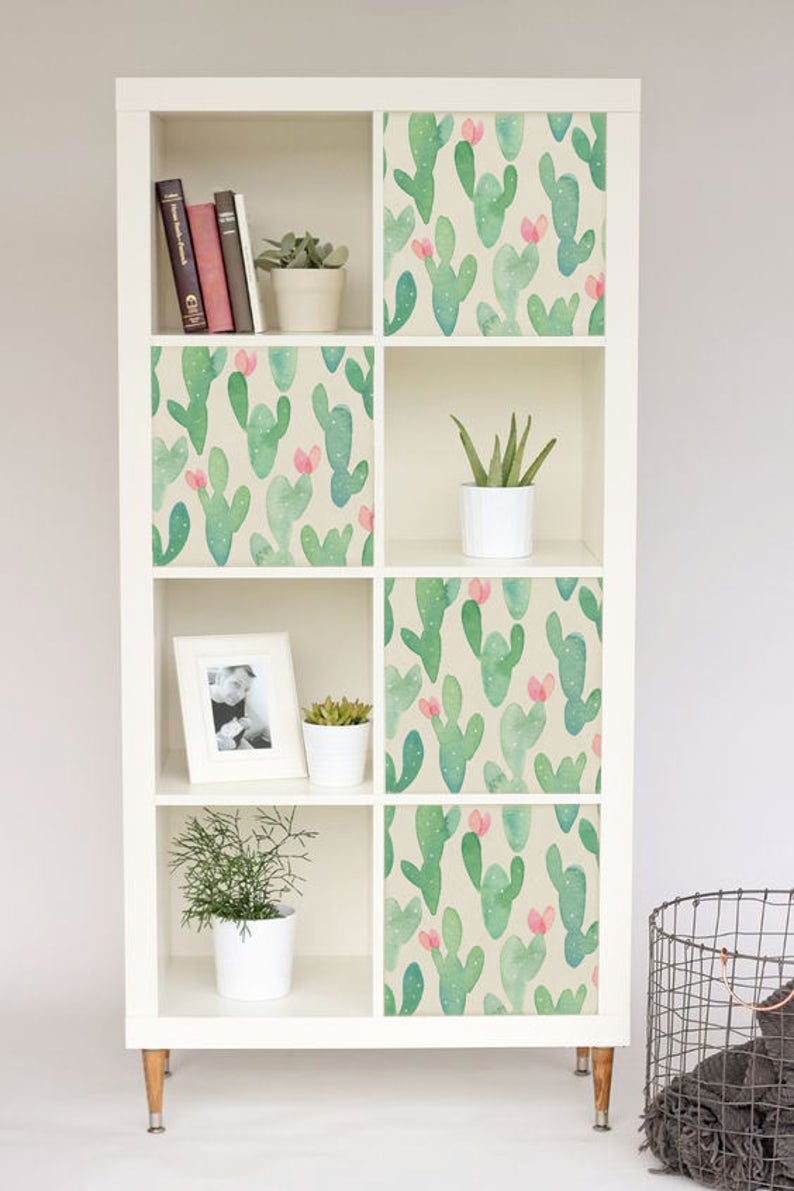 Decals For IKEA Kallax / Expedit Cactus Stickers Pastel | Etsy