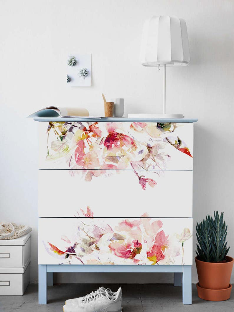 Decals for MALM Dresser ikea Spring Floral Stickers PACK OF image 0