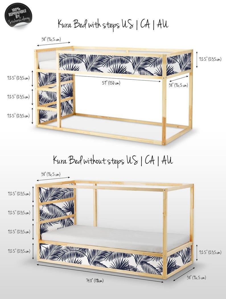Ikea Pack Of 5 Dark Decor 12k Furniture Decal Exotic Sticker For Children S Bed Tropical Palm Leaf Set Decals Kura