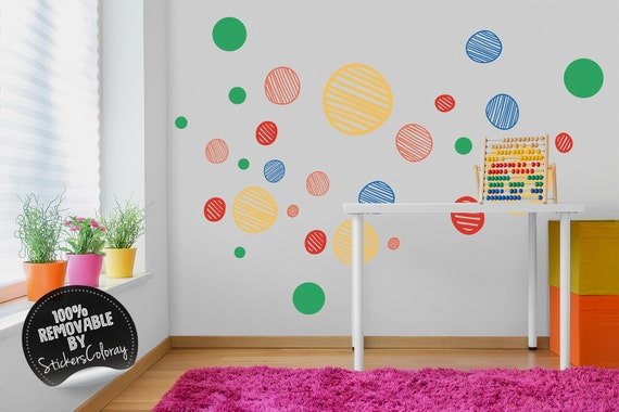 Wall Tattoo Watercolor Bear Playing with Cubes Wall Sticker