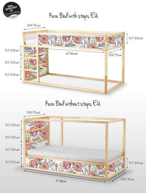 Decals For Kura Bed Ikea Vintage Wallpaper Sticker Set Pack Etsy