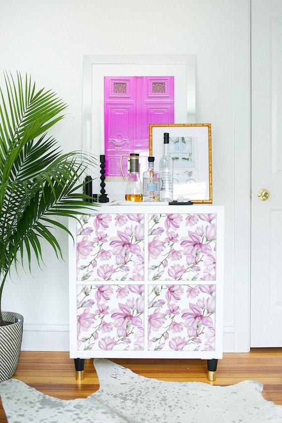 Kallax Expedit Ikea Vintage Magnolien Muster Pink Etsy