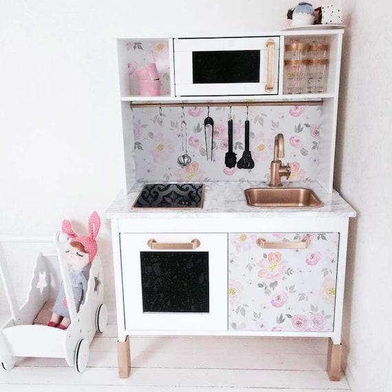 Duktig Ikea Vintage Floral Aufkleberset Pack 4 Dekor Etsy