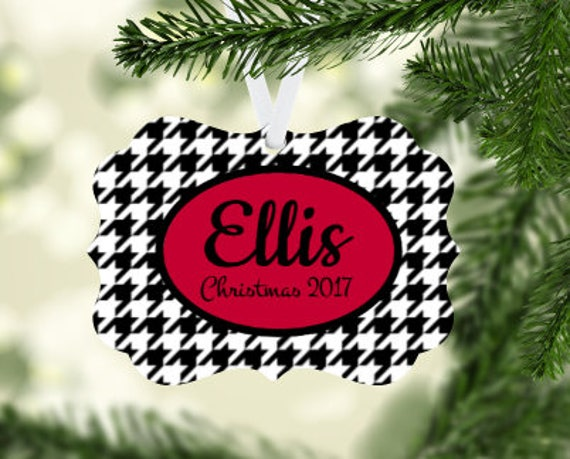 image 0 - Houndstooth Christmas Ornament Etsy