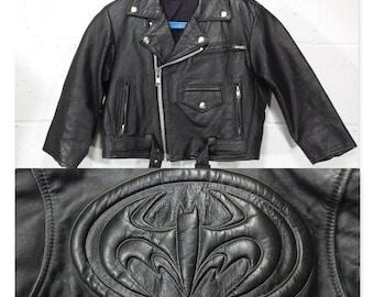 Biker Side Lace Boys Kids Black Leather Motorcycle Vest 9-12M Baby Infant