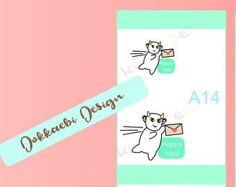 Dokkaebi Happy Mail Sticker, planner sticker, happy mail, scrapbooking, collage