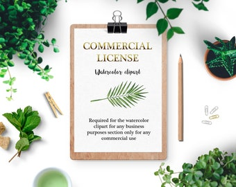Extended License for Handpainted Watercolor Clipart,License Clipart,Commercial Use of Clipart