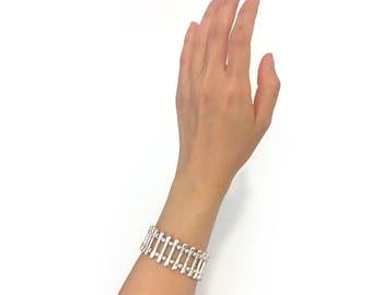 Organic shape metal bracelet