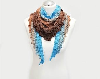 Crochet Pattern Triangle Scarf